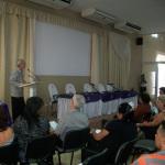 El Dr. C. Jorge García Batán, expresó las palabras de clausura.