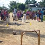 Los juegos deportivos fueron una de las propuestas de mayor aceptación entre los más pequeños de casa.
