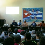 Conferencia Martí y la lengua inglesa impartida por la Dra Matilde Varela Aristigueta en la inauguración del Centro de Idioma de la UC