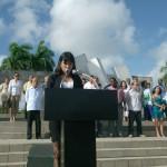 Dianne Arias Álvarez, reconodida como Vanguardia Integral, dio lectura al juramento de los graduados.