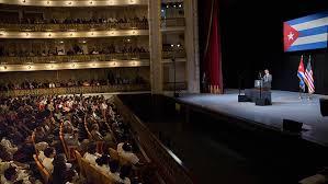 Obama en el Gran Teatro de La Habana.