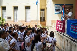 Jóvenes de la Universidad de La Habana repudian programa de verano.