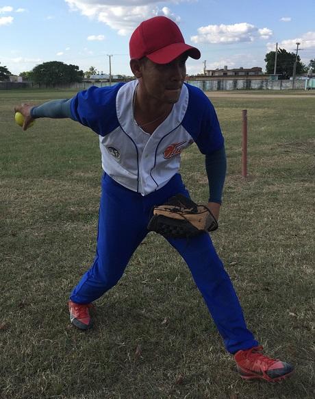 Raúl Peláez, lanzador ganador del choque. Trabajó siete entradas comnpletas y permitió cinco anotaciones de ellas cuatro sucias.